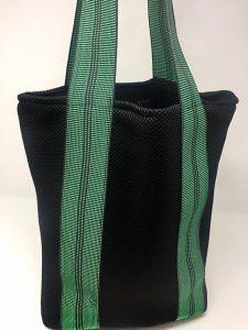 Bolso Negro Asas Verde