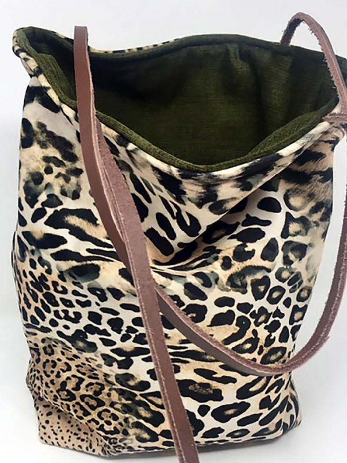 Bolsa Leopardo Verde Pequeño
