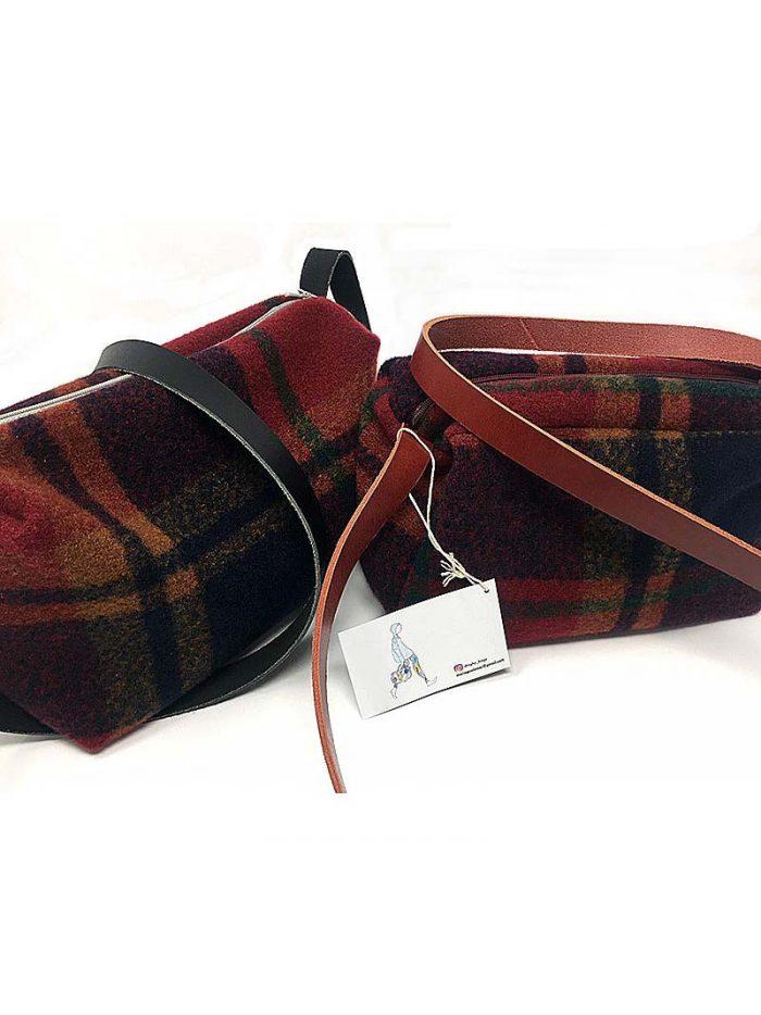 Bolso Escocés Verde Y Rojo